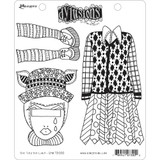 "Dyan Reaveley Dylusions Cling Stamp 8.5""X7"" - The Ties The Limit! (DYR 73000)"