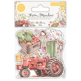 Craft Consortium - Laser Cut Wooden Shapes 10/Pkg - Farm Meadow - Farm (CWDNS004)