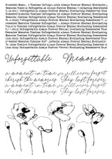 13@rts - Clear Stamp - Remember - Unforgettable (ARTUN10)
