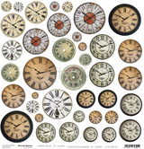 Craft O Clock - 12x12 Mixed Media Ephemera cut out sheet 3 - Clocks (CC-MM-DOD-03)