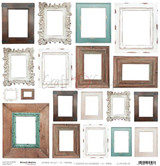 Craft O Clock - 12x12 Mixed Media Ephemera cut out sheet VI - Frames (CC-MM-DOD-6)