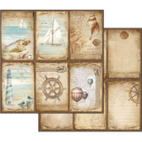 Stamperia - Double-Sided Cardstock 12x12- Sea Land - Cards (SBB541)