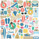 Echo Park - Cardstock Sticker Sheet 12x12 - Dive Into Summer (IS210014)