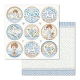 Stamperia - Double Sided Cardstock 12x12 - Little Boy - Round (SBB685)