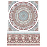 Stamperia - Decoupage Rice Paper Sheet A4- 26 Secrets of India - Mandala Lace (DFSA4463)