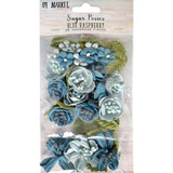 49 and Market - Sugar Posies 49/Pkg - Blue Raspberry (49SUG 32419)