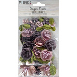 49 and Market - Sugar Posies 49/Pkg - Huckleberry (49SUG 32426)