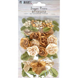 49 and Market - Sugar Posies 49/Pkg - Butterscotch (49SUG 32433)