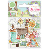 Craft Consortium - Laser-Cut Wooden Shapes 10/Pkg - Cottage Garden (CWDNS006)