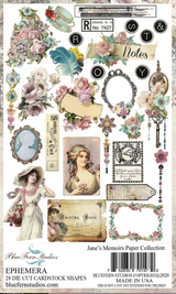 Blue Fern Studios - Jane's Memoirs - Die cuts - 28/pc - Ephemera (701472)