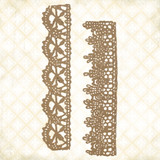 Blue Fern Studios - Chipboard - Jane's Memoirs - Chantilly Lace Borders (143779)