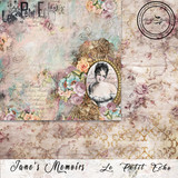 Blue Fern Studios - Jane's Memoirs - 12x12 dbl sided paper - Le Petit Echo (700772)
