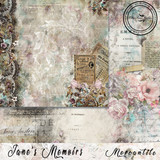 Blue Fern Studios - Jane's Memoirs - 12x12 dbl sided paper - Mercantile (700970)