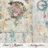 Blue Fern Studios - Jane's Memoirs - 12x12 dbl sided paper - Metropolitan (701076)