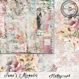 Blue Fern Studios - Jane's Memoirs - 12x12 dbl sided paper - Stylograph (701274)