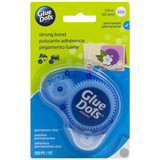 Glue Dots - Clear Dot Disposable Dispenser - Permanent, 200 Clear Dots (11345)