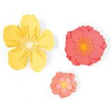 Sizzix - Jen Long - Thinlits Die Set 3/Pkg - Floral Blossom (664443)