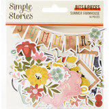 Simple Stories - Bits & Pieces Die-Cuts 56/Pkg - Summer Farmhouse (SFH12616)
