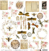 Craft O Clock - 12x12 Mixed Media Ephemera Extras to Cut sheet - Vintage Bisou (CC-DOD-VB-F3)