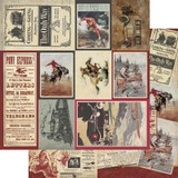 Authentique - Double Sided Cardstock - Manly - #8 Multi Size Cut Aparts (MAN-12 008)