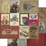Authentique - Double Sided Cardstock - Manly - #7 Cut Aparts (MAN-12 007)