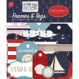 Carta Bella - Frames and Tags 33/pkg - By The Sea (CBBS120025)