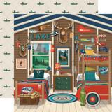 Carta Bella - Summer Camp - 12x12 Cardstock - Camp Cabin (CBSC119004)