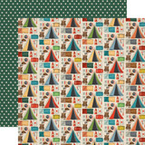 Carta Bella - Summer Camp - 12x12 Cardstock - Camping Essentials (CBSC119005)