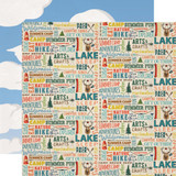 Carta Bella - Summer Camp - 12x12 Cardstock - Summer Camp Words (CBSC119007)