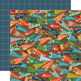 Carta Bella - Summer Camp - 12x12 Cardstock - Camp Pennants (CBSC119009)