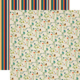 Carta Bella - Summer Camp - 12x12 Cardstock - Wildflowers (CBSC119013)