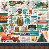 Carta Bella - Summer Camp - 12x12 Element Sticker (CBSC119014)