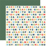 Carta Bella - School Days 12x12 Cardstock - Alphabet (CBDS118 11)
