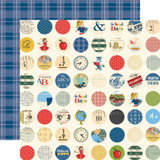 Carta Bella - School Days 12x12 Cardstock - School Circles (CBDS118 2)