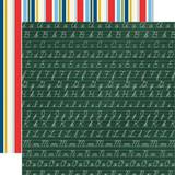 Carta Bella - School Days 12x12 Cardstock - Chalkboard Cursive (CBDS118 4)