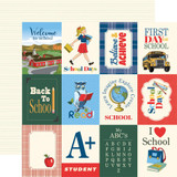 "Carta Bella - School Days 12x12 Cardstock - 3""X4"" Journaling Cards (CBDS118 6)"