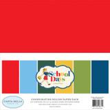 Carta Bella - School Days 12x12 Dbl Sided Solids Cardstock - 6 sheets (2 each) (CBDS118015)