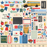 Carta Bella - Cardstock Stickers 12x12 - School Days (DS118014)