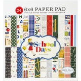 "Carta Bella - Double-Sided Paper Pad 6""X6"" 24/Pkg- School Days (DS118023)"
