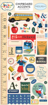 "Carta Bella - Chipboard Accents 6""X13"" - School Days (DS118021)"