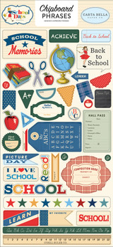 "Carta Bella - Chipboard Phrases 6""X13"" - School Days (DS118022)"