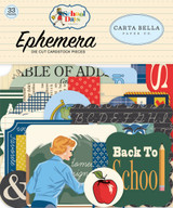 Carta Bella - Ephemera Icons 33/Pkg - School Days (DS118024)