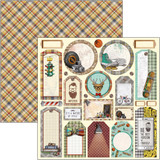 Ciao Bella - Double Sided Cardstock 12x12- Hipster - Tags (CBSS114)