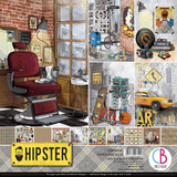 "Ciao Bella - 12""X12"" Double-Sided Paper Pack 11/pkg - Hipster (CBPM035)"