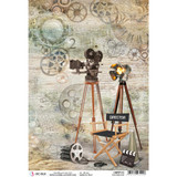 Ciao Bella - Decoupage Rice Paper Sheet A4 - Modern Times - The Director (CBRP113)