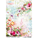 Ciao Bella - Decoupage Rice Paper A4 - Microcosmos - Wildflower and Bees (CBRP118)