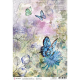 Ciao Bella - Decoupage Rice Paper A4 - Microcosmos - Blue Butterfly (CBRP121)