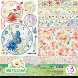 "Ciao Bella - 12""X12"" Double-Sided Patterns Pad 7/Pkg - Microcosmos (CBT037)"