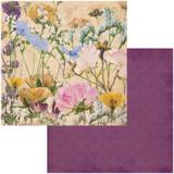 BoBunny - Double-Sided Cardstock 12x12- Botanical Journal - Flowers (BBJ12 11095)