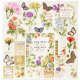 "BoBunny - Chipboard Stickers 12""X12"" - Botanical Journal (7311104)"